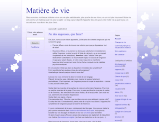 matieredevie.blogspot.com screenshot