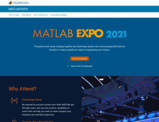 matlabexpo.com screenshot