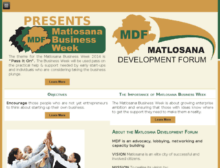 matlosanadf.co.za screenshot