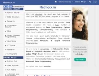 matmock.pythonanywhere.com screenshot