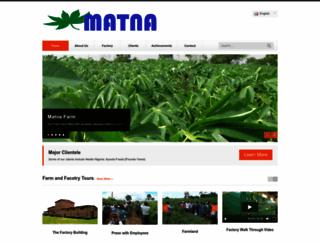 matnafoods.com screenshot