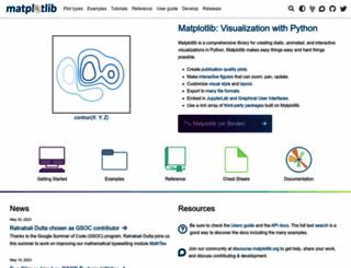 matplotlib.org screenshot