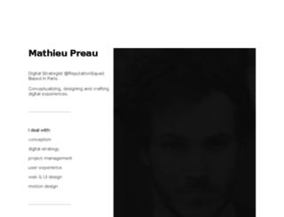 matpreau.fr screenshot