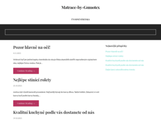 matrace-by-gumotex.cz screenshot