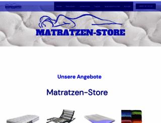 matratzen-store.com screenshot