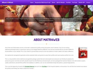 matri4web.com screenshot