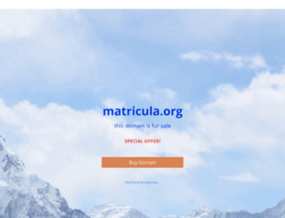 matricula.org screenshot