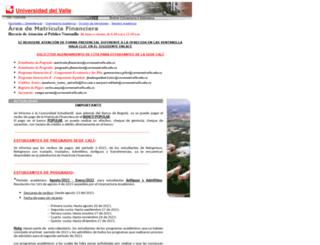 matriculafinanciera.univalle.edu.co screenshot