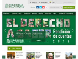 matriculas.udea.edu.co screenshot