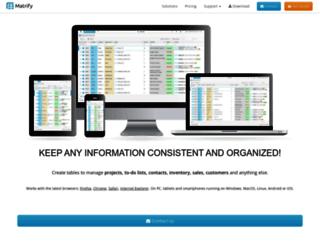 matrify.com screenshot