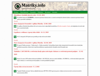 matriky.info screenshot