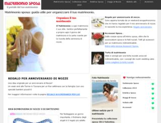 matrimoniosposa.it screenshot