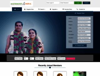 matrimony4india.com screenshot