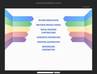 matrixinsulation.com screenshot