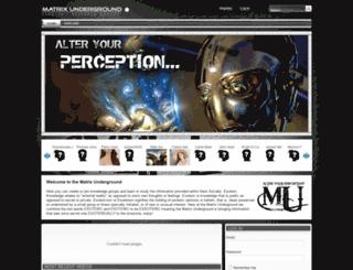 matrixunderground.com screenshot
