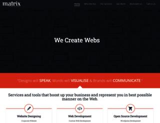 matrixwebstudio.com screenshot