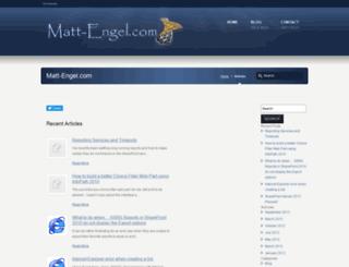 matt-engel.com screenshot