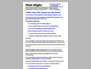 matt.might.net screenshot