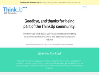 matt.thinkup.com screenshot