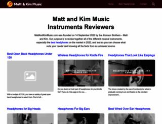 mattandkimmusic.com screenshot