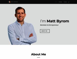 mattbyrom.com screenshot
