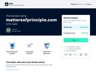 mattersofprinciple.com screenshot