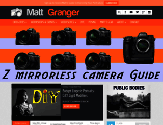 mattgranger.com screenshot