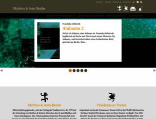matthes-seitz-berlin.de screenshot