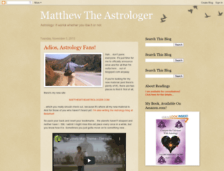 matthewastrology.blogspot.com screenshot