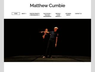 matthewcumbie.com screenshot