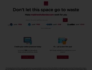 matthewhollander.com screenshot
