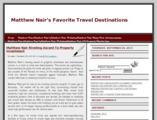 matthewnair.org screenshot