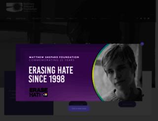 matthewshepard.org screenshot