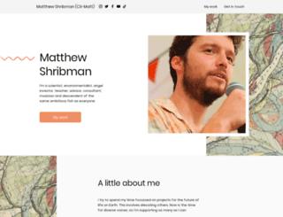 matthewshribman.com screenshot