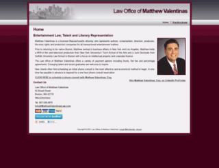 matthewvalentinaslaw.com screenshot