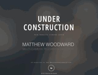 matthewwoodward.com screenshot