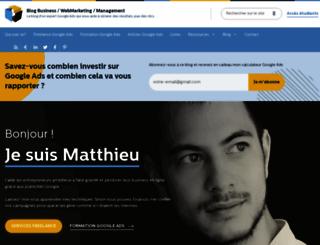 matthieu-tranvan.fr screenshot