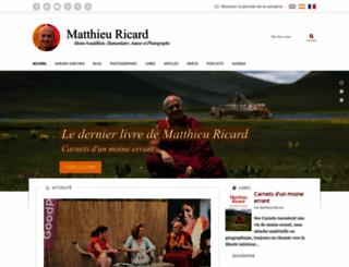 matthieuricard.org screenshot