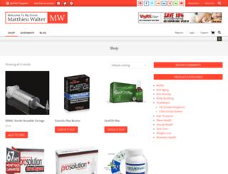 matthieuwalter.com screenshot