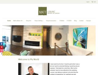 mattleblancart.com screenshot