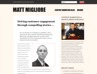mattmigliore.wordpress.com screenshot