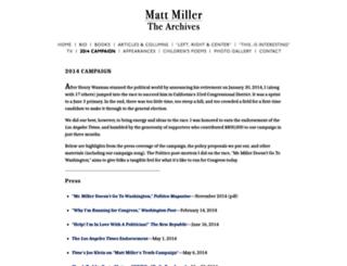 mattmillerforcongress.com screenshot
