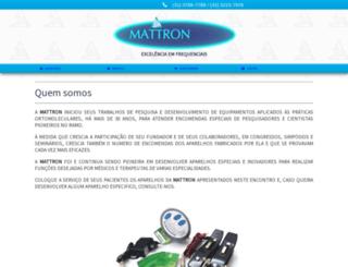 mattron.com.br screenshot