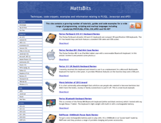 mattsbits.co.uk screenshot