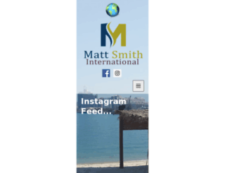 mattsmithinternational.com screenshot
