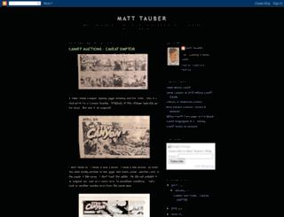 matttauber.blogspot.com screenshot