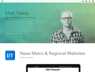 mattwebb.com.au screenshot