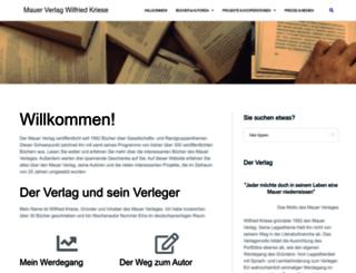 mauerverlag.de screenshot