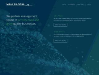 mauicapital.co.nz screenshot