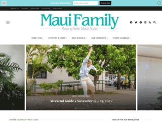 mauifamilymagazine.com screenshot